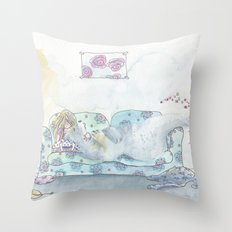 My bear friend Throw Pillow
