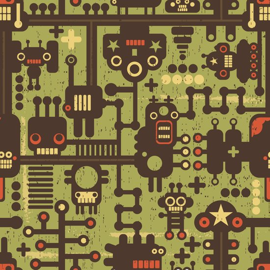 World of robots. Art Print