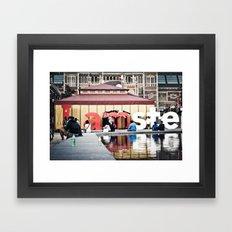 Tourists  Framed Art Print