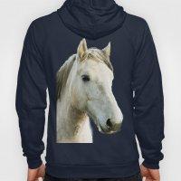 White Horse Portrait Hoody