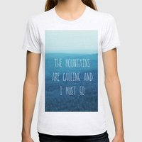 The Mountains Are Calling And I Must Go Womens Fitted Tee Ash Grey SMALL
