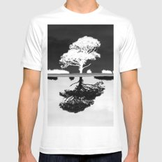 Double Trouble Mens Fitted Tee SMALL White