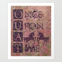 Once Upon A Time - AWESO… Art Print
