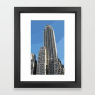 Framed Art Print featuring New York City Building by The Accelerator