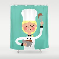It's Whisk Time! Shower Curtain