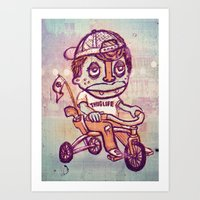 Tricycle Thuglife Art Print