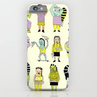 iPhone Cases featuring KIDS AND PIZZA by WASTED RITA