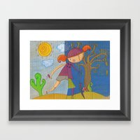 Summer - Autumn Framed Art Print