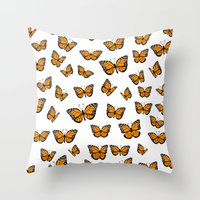 Papillons Throw Pillow