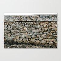 Stone Wall in Southern India (Karnataka & India & Travel) Canvas Print