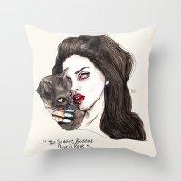 """Throw Pillow featuring Lana """"The saddest,baddest diva in Rock"""" by Lucas David"""