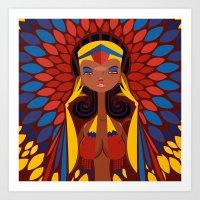 FIFA 2014 Samba Girls Series: Colombia Art Print