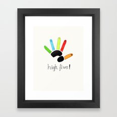 High Five! Framed Art Print