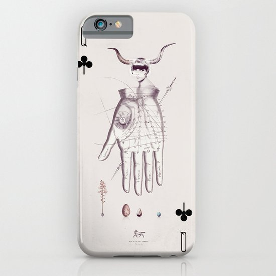 Queen of Clubs iPhone & iPod Case