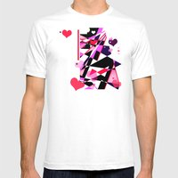 Single Track to Love 2 Mens Fitted Tee White SMALL
