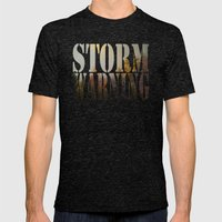 Storm Warning Mens Fitted Tee Tri-Black SMALL