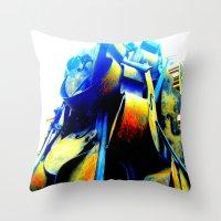 Technicolor Cellos  Throw Pillow
