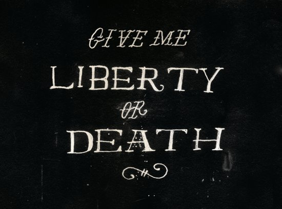 Give Me Liberty or Death Canvas Print