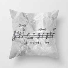 all you need is love! Throw Pillow