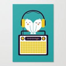 Radio Mode Love Canvas Print