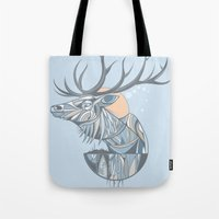 Elk Root Blue Tote Bag