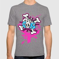 Skull Pops Mens Fitted Tee Tri-Grey SMALL