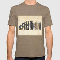 Barcode Evolution Mens Fitted Tee Tri-Coffee SMALL