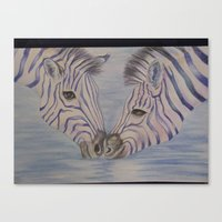 Canvas Print featuring Zebra Love by Joy Reyes