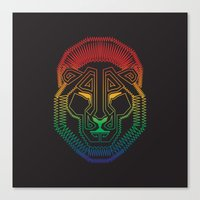 Canvas Print featuring Lion by HanYong