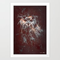 DARK OWL Art Print