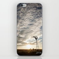 Sandhills Windmill @ Sunset Verticle iPhone & iPod Skin