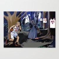 Jason Kidd Cheating Bask… Canvas Print