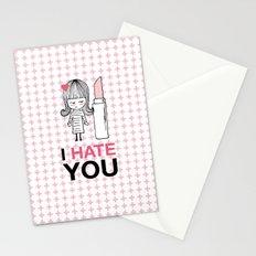 I Hate You / Lipstick Stationery Cards