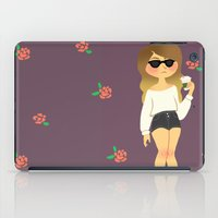 Girl With A Coffee iPad Case