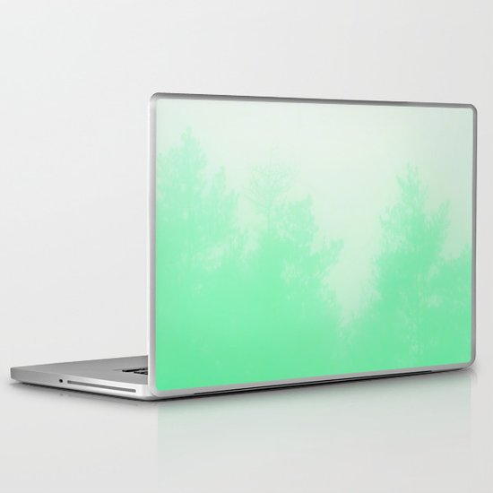 Out of focus - cool green Laptop & iPad Skin