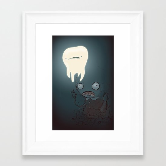 A powerful tooth Framed Art Print