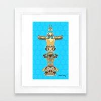 RUFUS TOTEM Framed Art Print