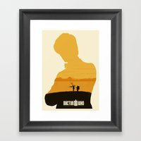 11th Doctor And The Impo… Framed Art Print