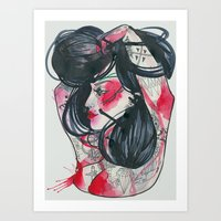 Amina Art Print