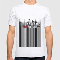 Humans Not For Sale Mens Fitted Tee Ash Grey SMALL