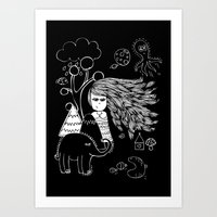 I'm Feeling Weird Art Print