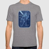 Full Armor of God - Warrior Girl 2 Mens Fitted Tee Tri-Grey SMALL