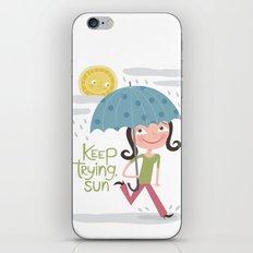 Keep Trying Sun! iPhone & iPod Skin