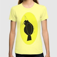 meg's crow Womens Fitted Tee Lemon SMALL
