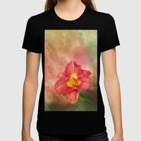 Beautiful Day Lily Womens Fitted Tee Black SMALL