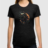 Fall Womens Fitted Tee Tri-Black SMALL
