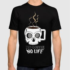 No Coffee No Life SMALL Black Mens Fitted Tee