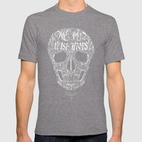 No One But Death (Shall Part Us) Mens Fitted Tee Tri-Grey SMALL