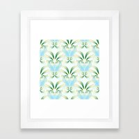 Pineapple Welcome Abstra… Framed Art Print