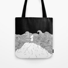 I wonder what is on the other side. Tote Bag